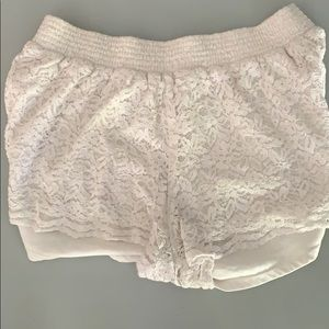 Hollister loose white shorts